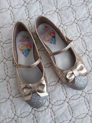 Disney/'s Frozen Toddler Girl/'s White//Blue Scuff Glitter Slippers Shoes Sz 11//12