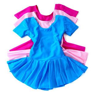 UK-Seller-Lovely-Girl-Leotard-Lycra-Ballet-Tutu-Skirt-Dance-Dress-Dance-Wear-326