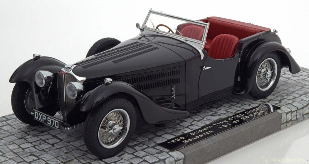 Minichamps 1938 Bugatti Type 57C Corsica Roadster Noir 1 18 Échelle le de 999