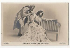 Julia-Neilson-amp-Fred-Terry-in-The-Scarlet-Pimpernel-Theatre-RPPC-Postcard-US097