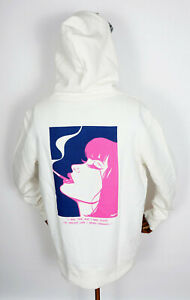 Huf Worldwide Sweatshirt Hooded Pullover Hoodie I Feels Good White in M