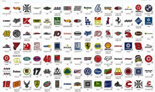 549 10 Formats Company Logos Embroidery Designs Set 1 - CD//USB