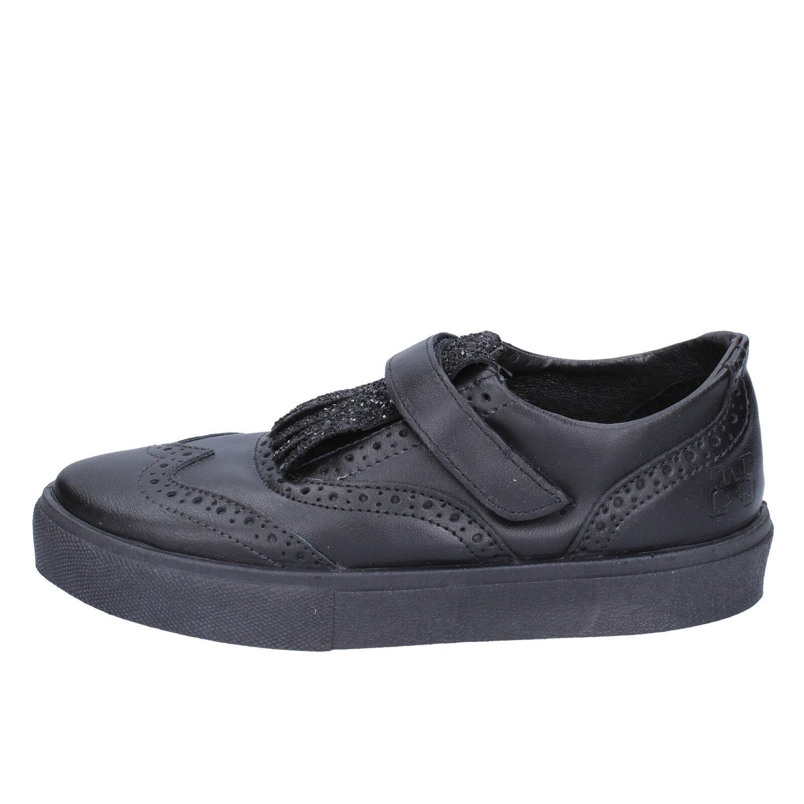 Damen schuhe 2 schwarz STAR 40 EU sneakers schwarz 2 leder BX380-40 68ea54