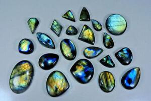 Labradorite Gemstone Labradorite Multi Flash Mix Shape 4 pc Lot Cabochon Gemstone Loose Gemstone For Making Macrame and Wire Wrapping
