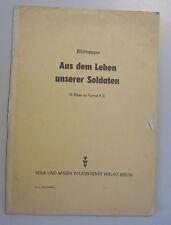Aus dem Leben unserer Soldaten~Bildermappe 10 Fotobildern A3 DDR Volksarmee NVA