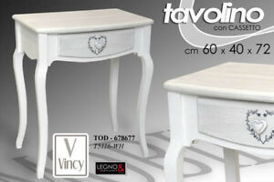 TAVOLO-TAVOLINO-H72-60-40-CASSETTO-SCRITTOIO-SHABBY-CHIC-LEGNO-BIANCO-678677