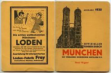 GERMANY 1930 GUIDE BOOK HOTEL WAGNER MUNICH 68 PAGES + ADVERTS