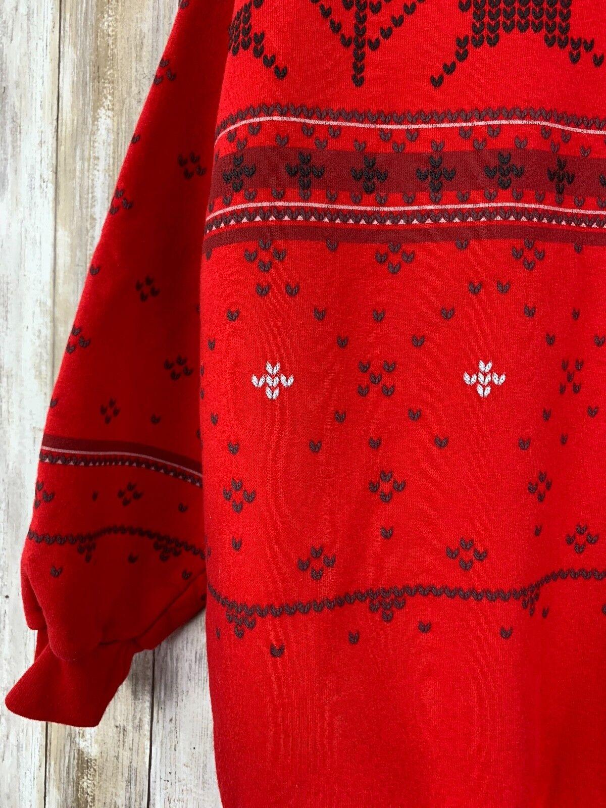 Artisans Print Embroidered Ugly Christmas Deer Is… - image 2