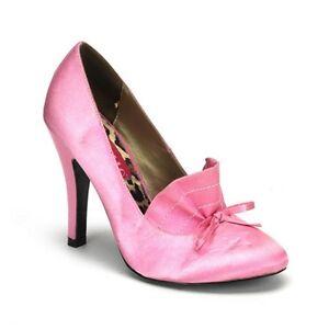 SALE % High Heels Pumps Satin Rosa Pleaser Damenpumps Pin Up Damenschuhe