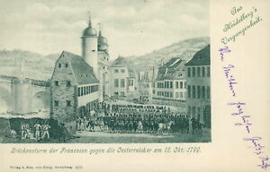 Ansichtskarte-Heidelberg-Brueckensturm-der-Franzosen-1898-Nr-759