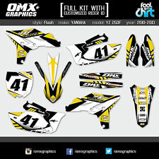 Yamaha YZF 250 4-stroke stickers decals graphics kit 2010 2011 2012 2013 Flash