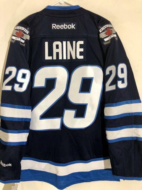 online store 0181f 60d94 Reebok Premier NHL Jersey Winnipeg Jets Patrik Laine Navy sz 2X