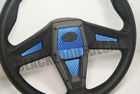 Polaris Rzr 1000 Xp Blue Carbon Fiber Steering Wheel Inlay Decal 1000xp Xp1k