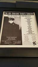 Roy Orbison Tribute Concert Rare Original Promo Poster Ad Framed!
