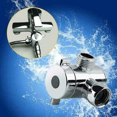 "3-Way Bathroom Chrome Diverter G1//2/"" T-adapter Valve Mounted TI For Shower U8N8"