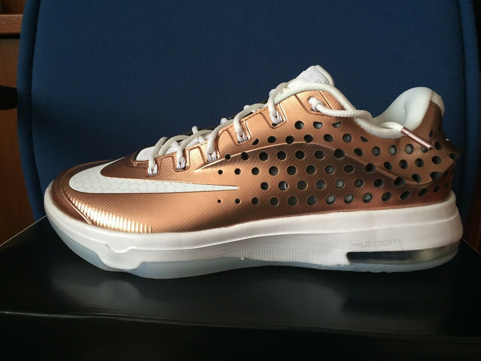 Nike KD 7 Elite EYBL Copper Sz 8.5 Kevin Durant VII GOLD foamposite 800514 914 The latest discount shoes for men and women