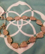 Kendra Scott Rare Iridescent White Susanna Stone Bracelet In Gold.  NWT