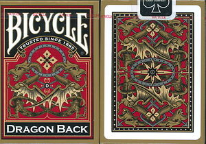 Lot of 12 Bicycle Dragon Back Gold Playing Cards