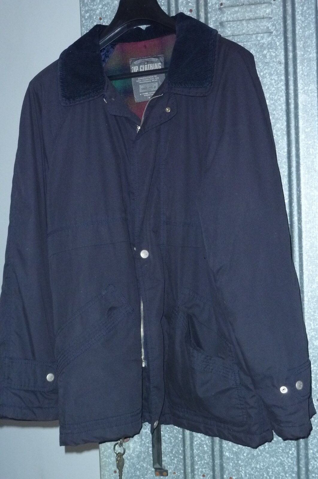 GIACCONE men ZIP CLOTHING INDUSTRIES - LARGE - MADE IN ITALY