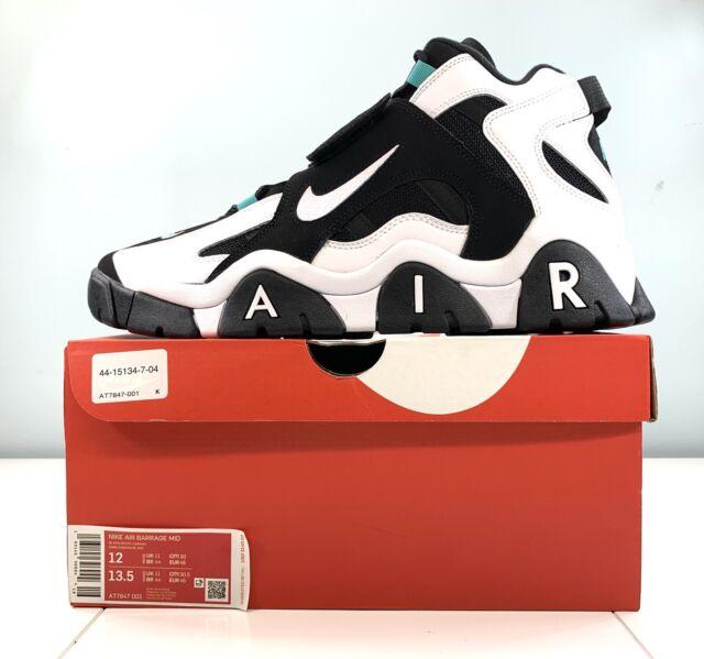 Nike Air Barrage Mid Black White Cabana At7847 001 Men's Size 9