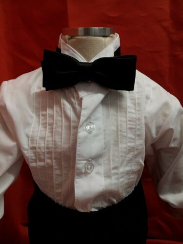 Boys/' Formal Black /& White Suit// 5 pcs Outfit//Sizes:XS to 6 years SALE SALE!
