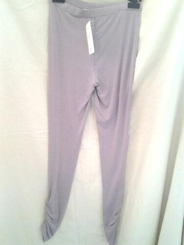 Adini 96/% Viscose//4/% Lycra leggings elastic strip waist outside leg cuff gathers