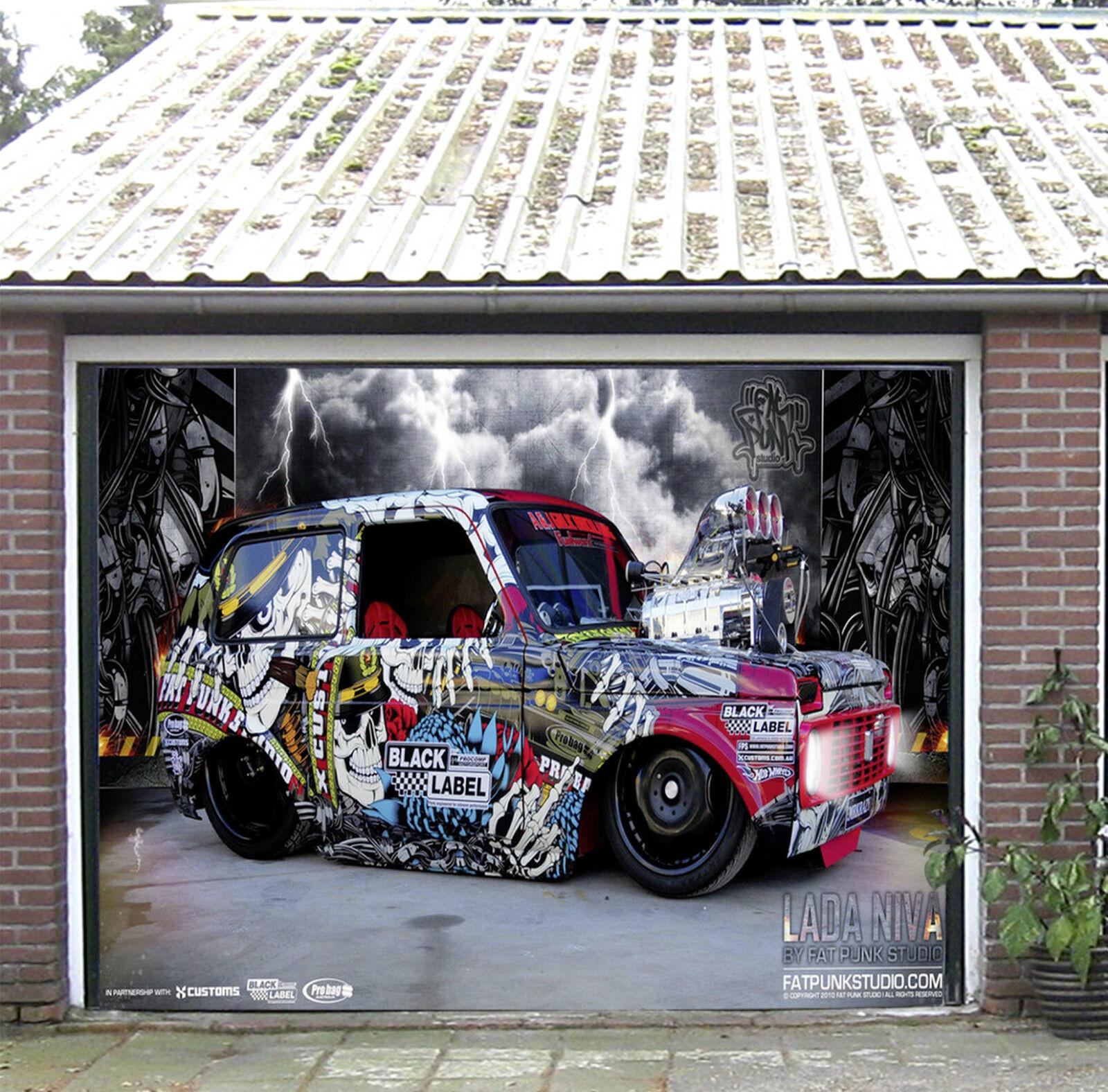 3D Auto Graffiti 6 Garage Door Murals Wall Print Decal Wall Deco AJ WALLPAPER FR