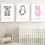 Safari-Jungle-Animals-Nursery-Prints-Set-Baby-Kids-Room-Pictures-Wall-Art-Decor miniatuur 10
