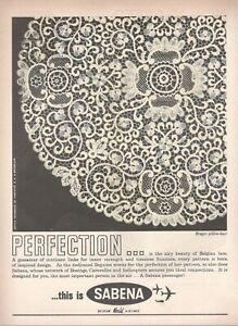 1962-Original-Advertising-039-Sabena-Belgium-Airlines-Company-Aerial-Lace
