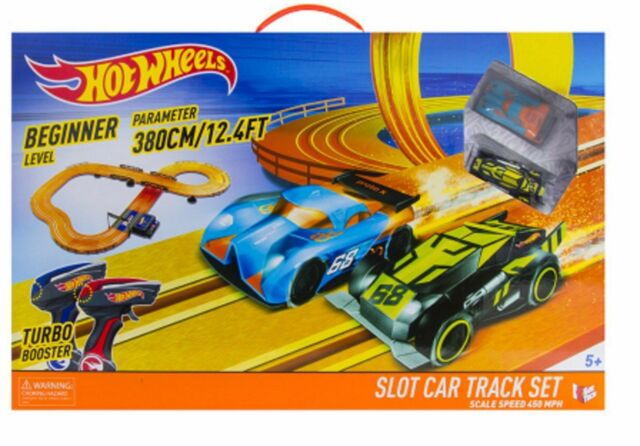 hot wheels slot car racing track play set with 2 cars ebay. Black Bedroom Furniture Sets. Home Design Ideas