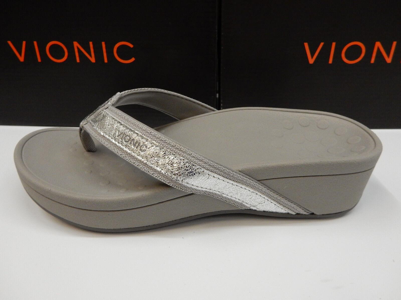 Vionic Vionic Vionic Womens High Tide Metallic Silver Size 9 fa730d