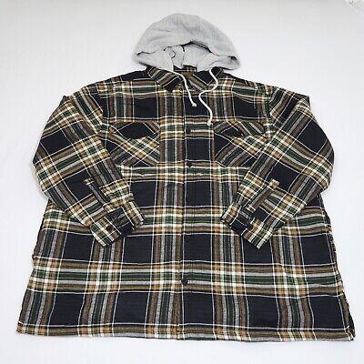 Boulder Creek by Kingsize Mens Big /& Tall Fleece-Lined Flannel Shirt Jacket