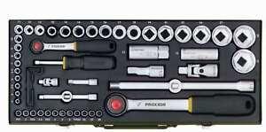 Proxxon-Steckschluesselsatz-56-teilig-1-2-und-1-4-Zoll-Qualitaetswerkzeug