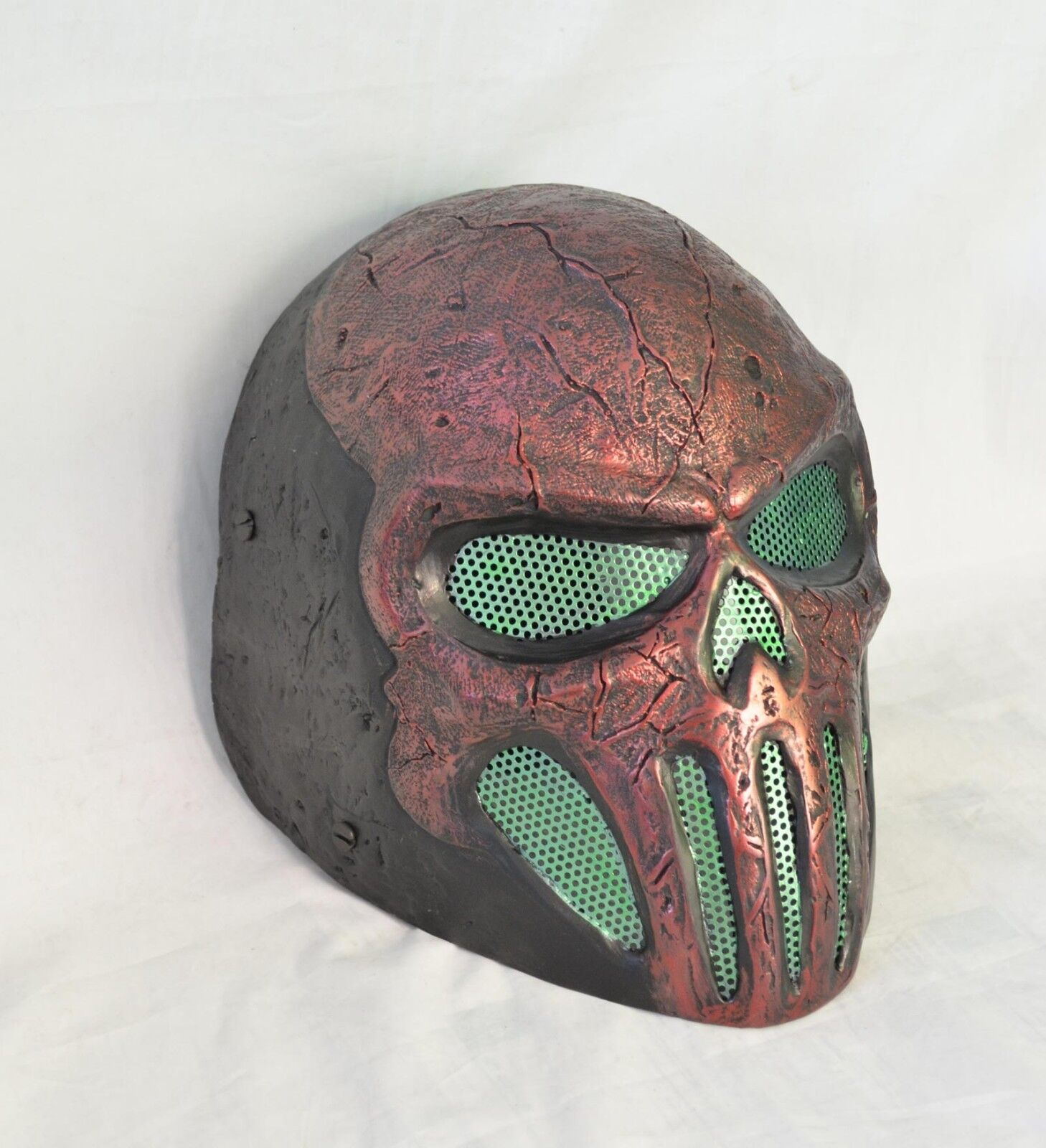 Red Green Paintball CS Airsoft Wire Mesh Full Face Predection Skull Mask Prop