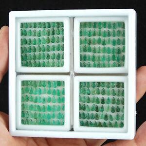 240-Pcs-Natural-Zambian-Emerald-5mm-3mm-Pear-Top-Green-Loose-Gemstones-Lot