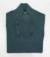 Brunello Cucinelli Blue Cotton Thick Knit Sweater Size 48/38/s $1095 on sale