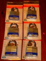 6 - Tru-bolt 2 Laminated Padlock. Single Lock Also Listed. (m-102)