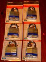 6 - Tru-bolt 2 Laminated Padlock. Single Lock Also Listed. (m-102)