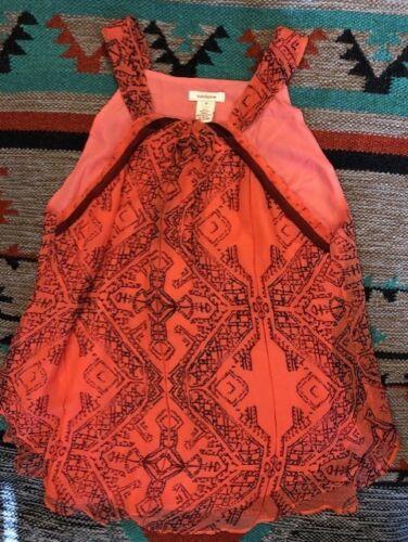 "Coral Silk Sundance Catalog Women/'s /""Kerala Halter/"" Tank Brand New"