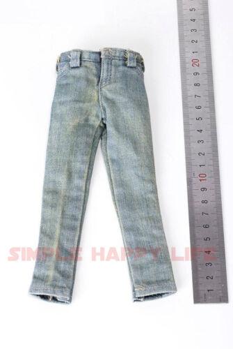 """1//6 Lumière Couleur Jeans Pantalon en tissu pour 12/"""" Male Doll HOT TOYS PHICEN M33 ❶ USA ❶"""