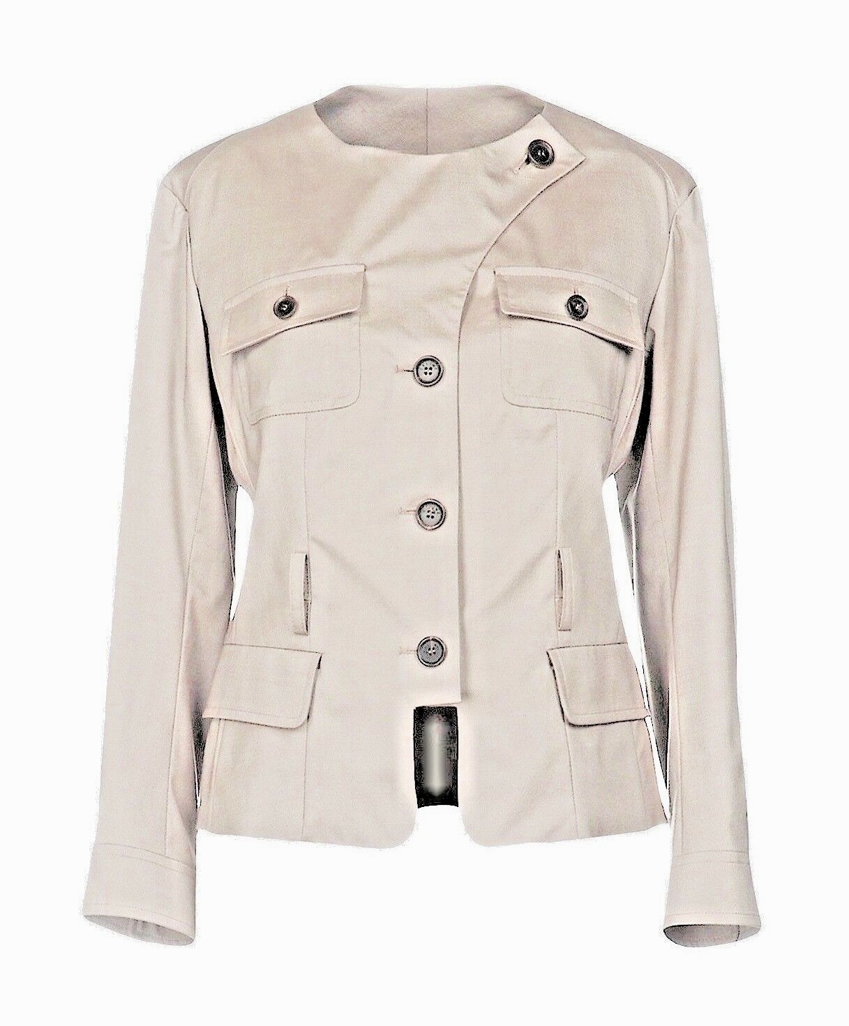 Auth Fab CELINE Wool   SIlk Blazer, EU38   UK8-10