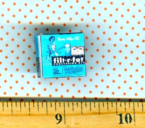 Dollhouse Miniature size Filter Fat Kitchen Gadget Box