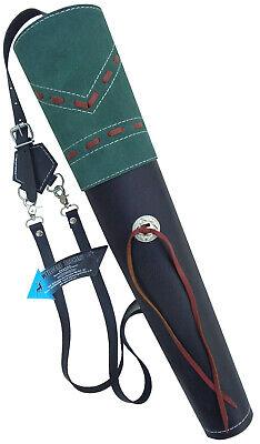 Bello Nuovo Tradizionali In Pelle Nera Fine Delicato Faretra Freccia Indietro Archery Products Aq163- Crease-Resistenza