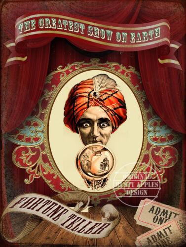 Grand Cadeau Home Decor Fortune Teller Circus greatest show on earth Métal Signe