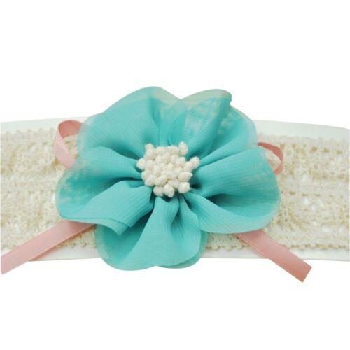 Soft Cute Kids Baby Girls Toddler Lace Flower Hair Headwear Headband Acces Ullm