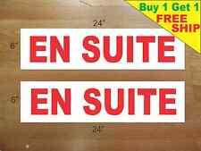 "EN SUITE 6""x24"" REAL ESTATE RIDER SIGNS Buy 1 Get 1 FREE 2 Sided ENSUITE"