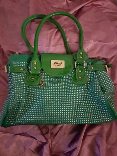 Canvas Anna Large Handle Smith Logo Studded Grab Bag Fashion Shoulder Designer wYqRx1zrEY