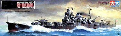 Boote & Schiffe Chikuma Japanese Heavy Cruiser Tamiya 1/350 Kunststoff Set
