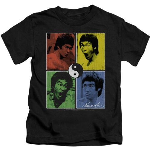 7 5//6 Bruce Lee ENTER DRAGON COLOR BLOCK Many Faces T-Shirt KIDS Sizes 4