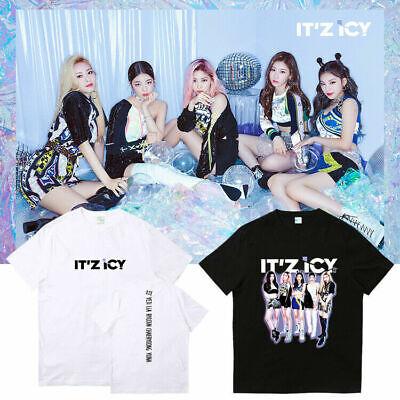 2020 Kpop ITZY IT/'z ME T-shirt Summer Casual Short sleeve Crew Collar Tee  0341